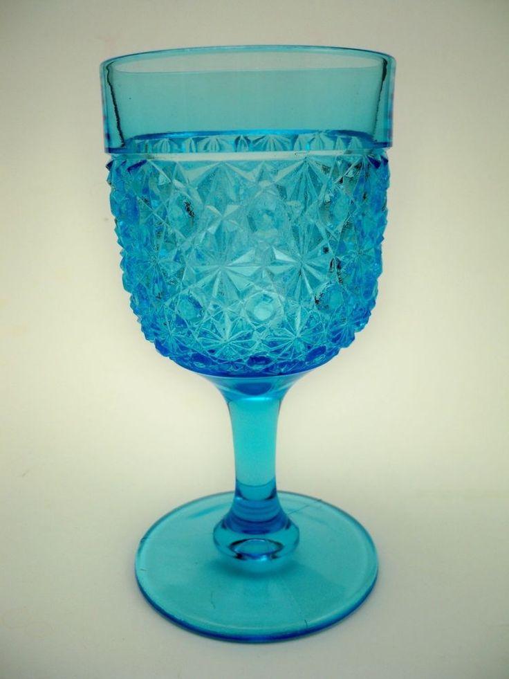 1880s Antique EAPG Hobbs Sapphire Blue Glass