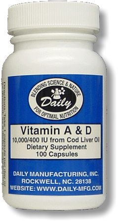 A&D 10,000/400 (from fish liver oil)