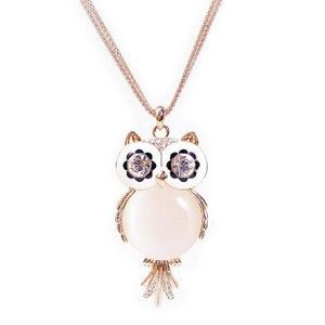 Chaomingzhen Rose gold plated opal Crystal Rose Flower Pendant Long Necklace for Women jJaSE