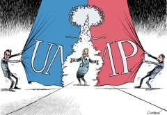 FRANCE • Le FN en pleine tentative de normalisation - Ou plutôt en pleine TENTATIVE de normalisation. Quand on laisse dire ou écrire n'importe quoi, c'est déjà une capitulation. Francois Fillon-Marine Le Pen-Jean Francois Copé..., la polygamie au programme du FNUMP?