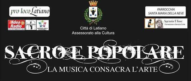 Sacro e Popolare, #spettacolo musico-teatrale, il 27 #dicembre 2014 ore 19,00 #Latiano (Br)