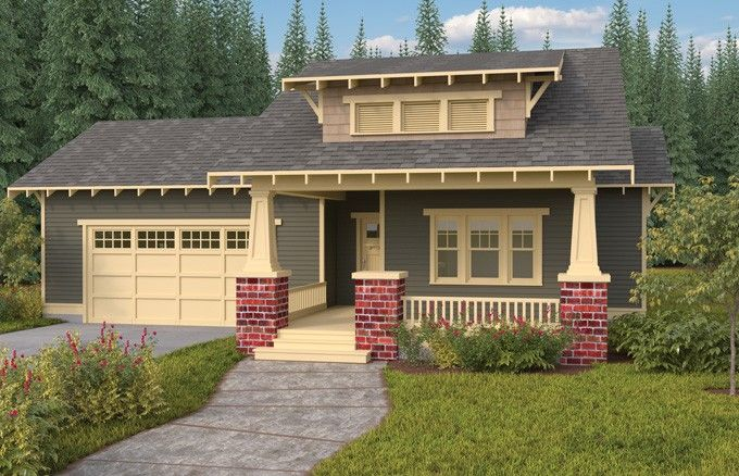 Eplans Bungalow House Plan - Craftsman Single Story Open Floor Plan - 1792 Square Feet and 3 Bedrooms from Eplans - House Plan Code HWEPL67470