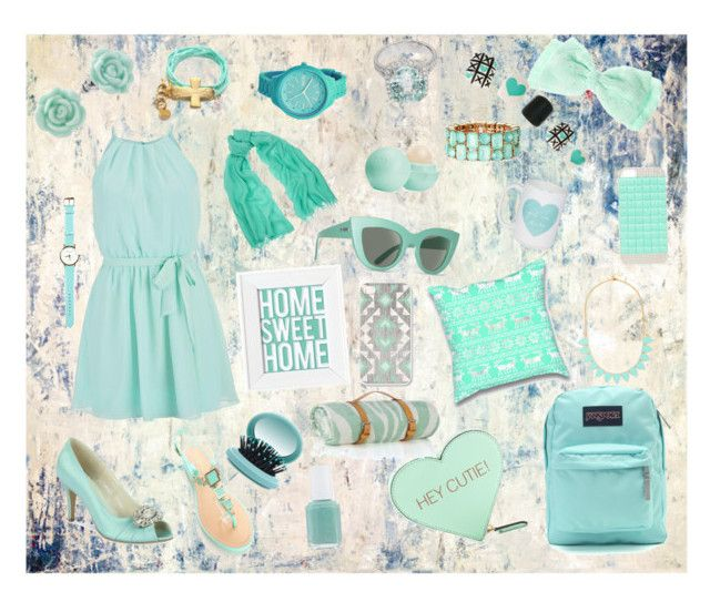 """""""Minty fresh!"""" by el-case on Polyvore featuring John Beard Collection, maurices, JanSport, Chan Luu, BaubleBar, Rebecca Minkoff, Forever New, Eos, Rip Curl and LC Lauren Conrad"""
