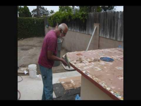 How To Build A Custom Outdoor Kitchen NO METAL STUDS   BBQ Grill Island U0026  Fire