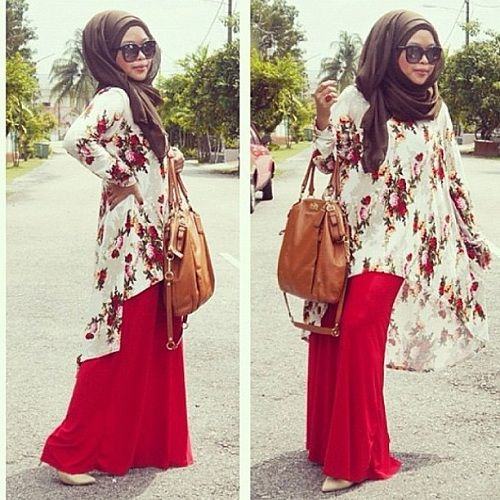 Red Maxi Skirts   Combination Ideas  0acef9a907581520a8541cbe41a6a948