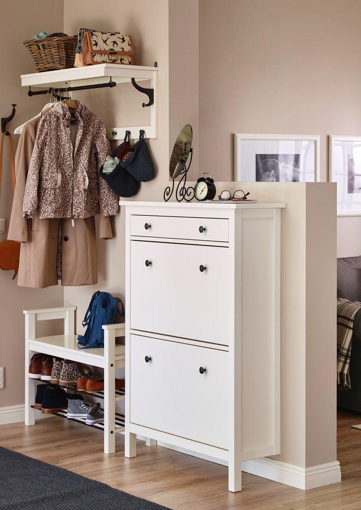 Hemnes Schuhschrank 2fach Weiss Ikea Flurideen Ikea Bedroom