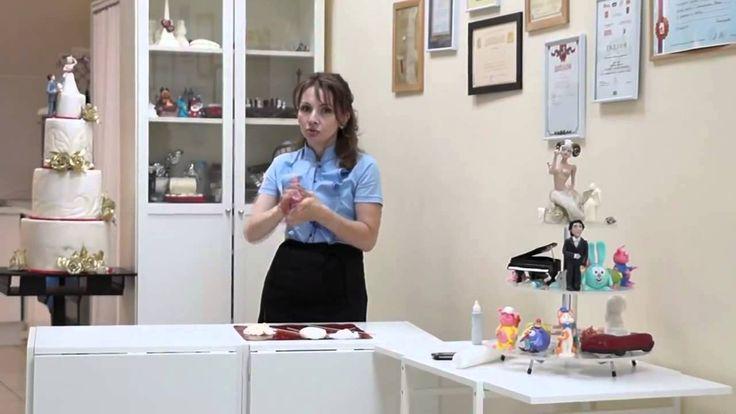 9й урок 'Вы даже не предполагали, что фигурки на торт делают из этого' о...