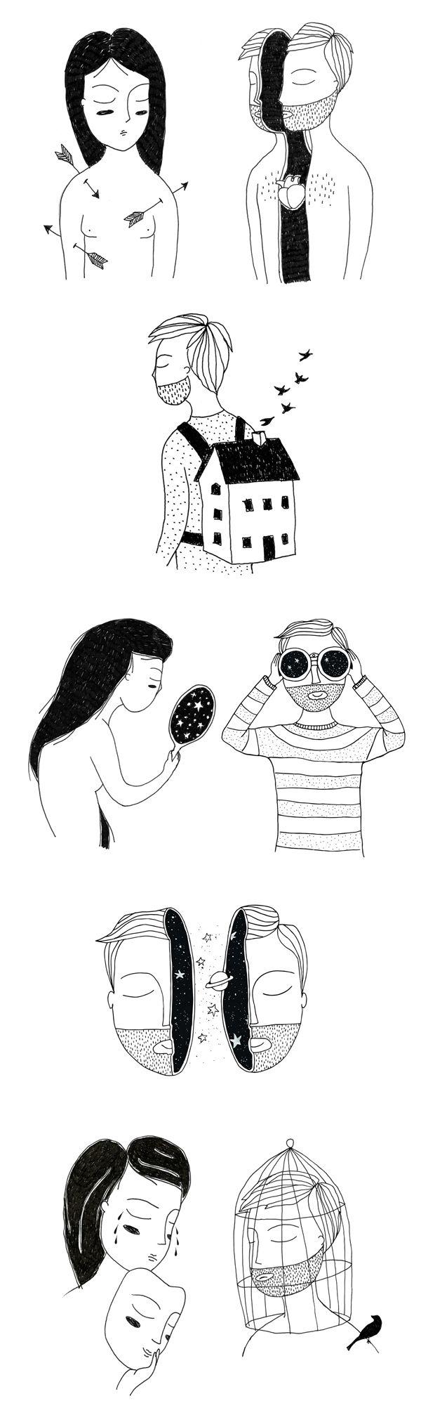 The Ordinary Young Man, um projeto ilustrado por Fernando Cobelo