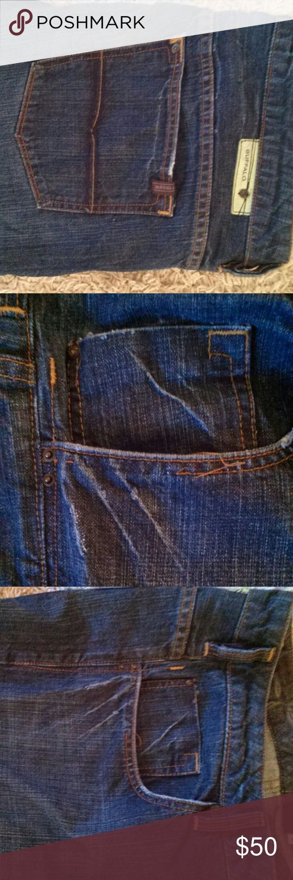 Men's Buffalo Jeans Men's Buffalo jeans Size: 38 x 32 Good shape- some thread coming off of pocket(shown in picture) 100% Cotton  Shipping will be 1-2 days!  MAKE ME AN OFFER☺ Buffalo David Bitton Jeans
