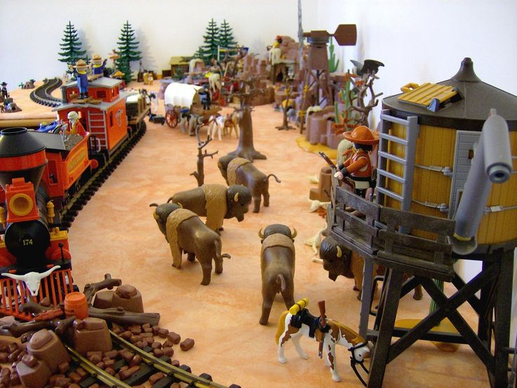 Pacific Railroad, diorama Playmobil