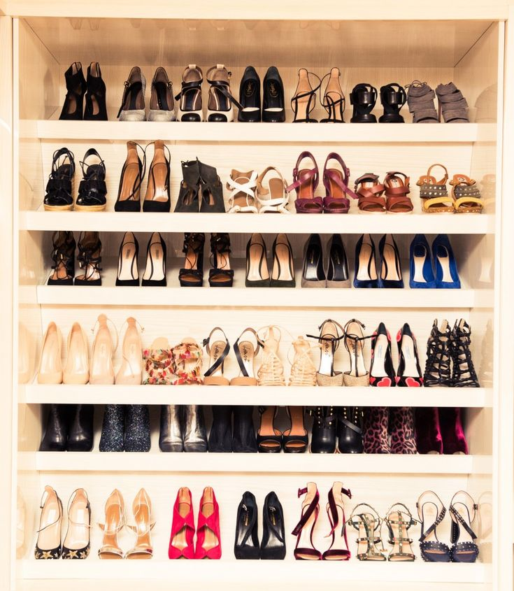 Inside Huggle App Founder Valerie Stark's London Closet: Valerie Stark's closet has one of the biggest CHANEL collections we've ever seen. In collaboration with Huggle. -- Shoe closet organization  |  coveteur.com