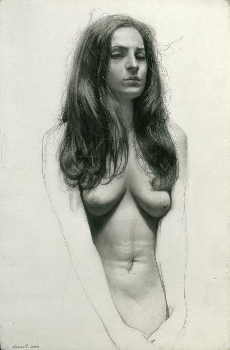 Steven Assael, Elian with Scar, 2000, graphite with black crayon on paper, 14 1/2 x 9 1/2 inches