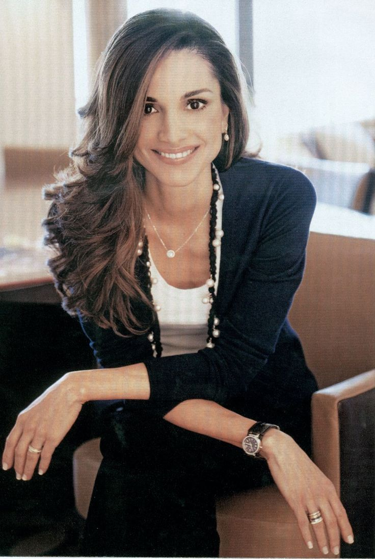Queen Rania of Jordan - middle eastern royalty