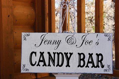 Wedding Signs CANDY BAR Custom 18x7 self standing: Cottages Wedding, Wedding Decor, Cakes Tables, Candy Bar, Wedding Signs, Cakes Wedding, Birthday Decor, Bar Signs, Cigars Bar