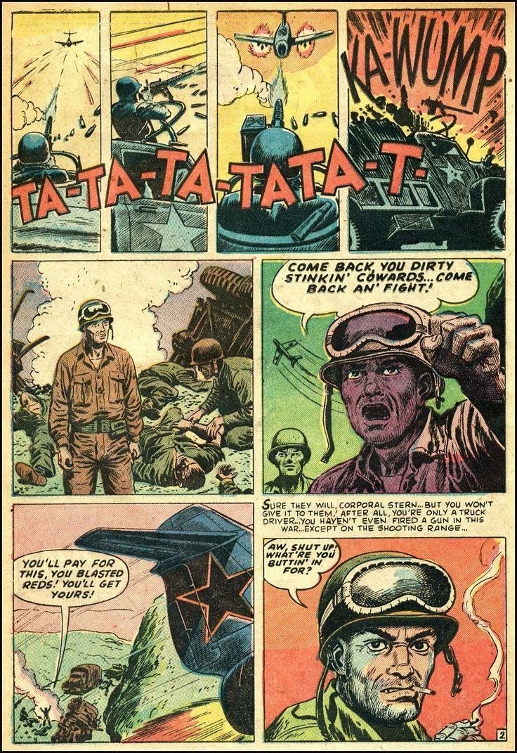 216 best ww ii comic images on pinterest art pop pop art battle 61952 art by russ heath publicscrutiny Image collections