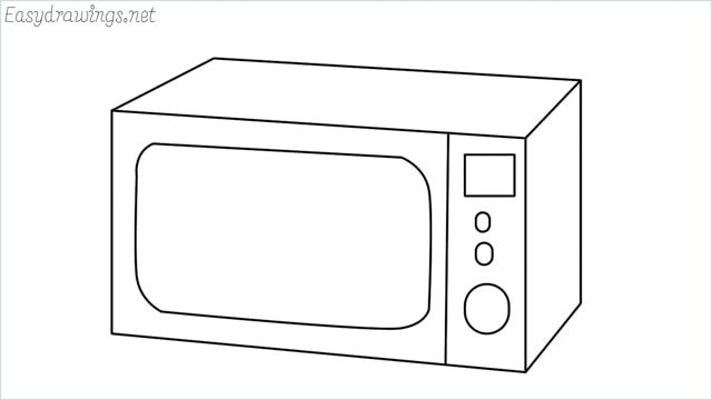 How To Draw A Microwave Step By Step For Beginners Drawings Easy Drawings Draw