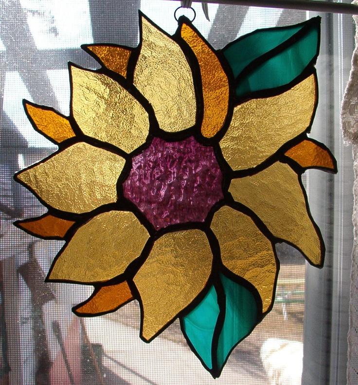 Sun Flower in glass