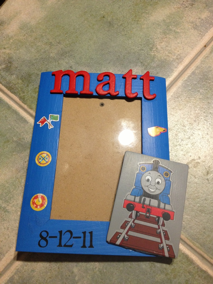 Thomas the train picture frame