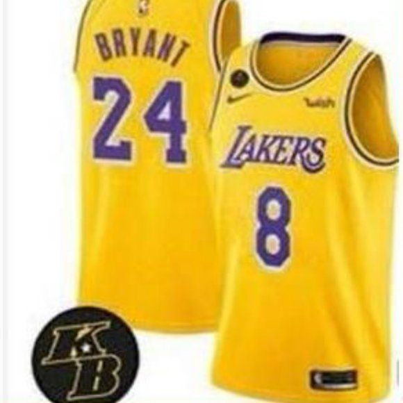 8 24 Los Angeles Lakers Kobe Bryant Gold Jersey 1 Brand New With Tags 2 All Items Size Available In Stock 3 All Ite In 2020 Lakers Kobe Lakers Kobe Bryant Kobe Bryant