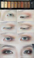 Matte Nude Cut Crease Eyes Makeup Tutorial by mollyeberwein