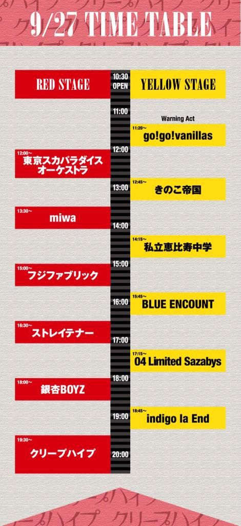 【Bowline 2015 curated by クリープハイプ 】 本日!!!きのこ帝国は12:45〜YELLOW STAGE に出演いたします。