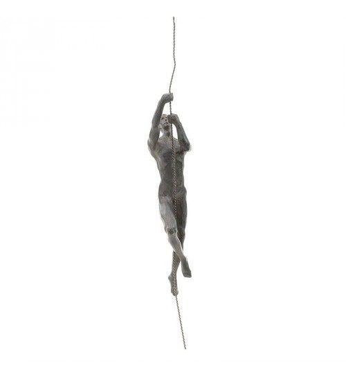 POLYRESIN HANGING DECORATION 'CLIMBER' IN BLACK 8X6X30_5_75