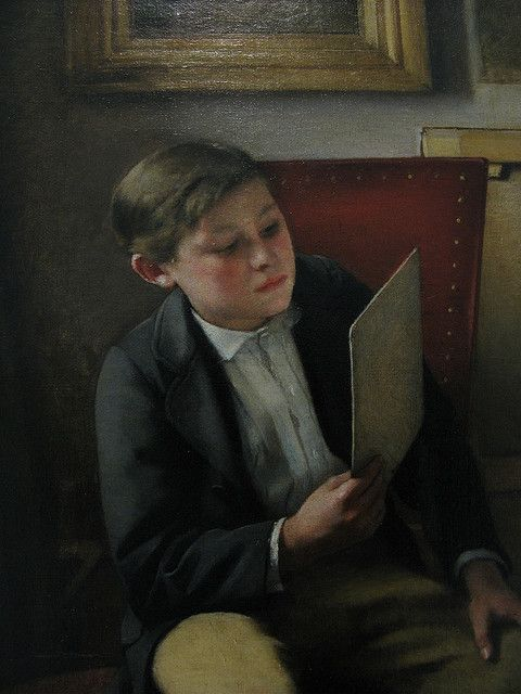 "Detail from: ""Young Artist"" (1868) - Ioannis Zacharias"