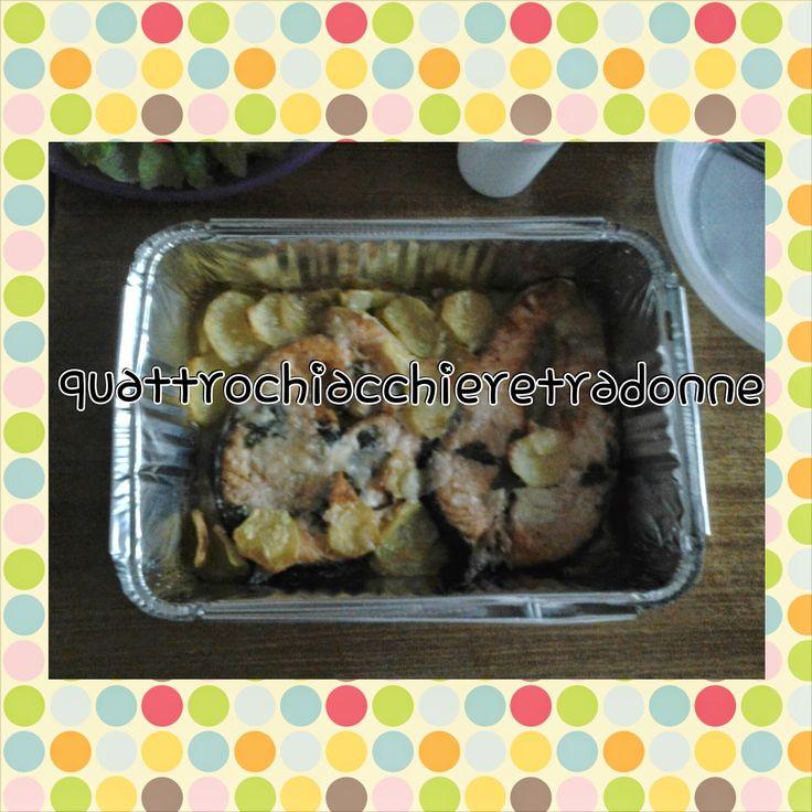 Quattro Chiacchiere Tra Donne: Salmone al forno con patate