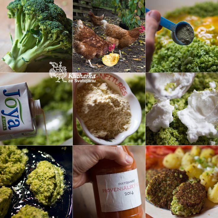 Velkou hlávku brokolice omyjeme a včetně košťálu najemno nastrouháme nebo nadrtíme v robotu. Přidáme 3 žloutky, bylinkovou sůl, 50 ml rostli...
