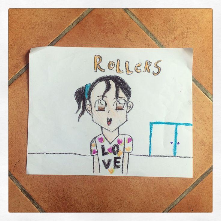 Emi-Cousins Emi portrait-Crayola colors and paper (9yrs. old)