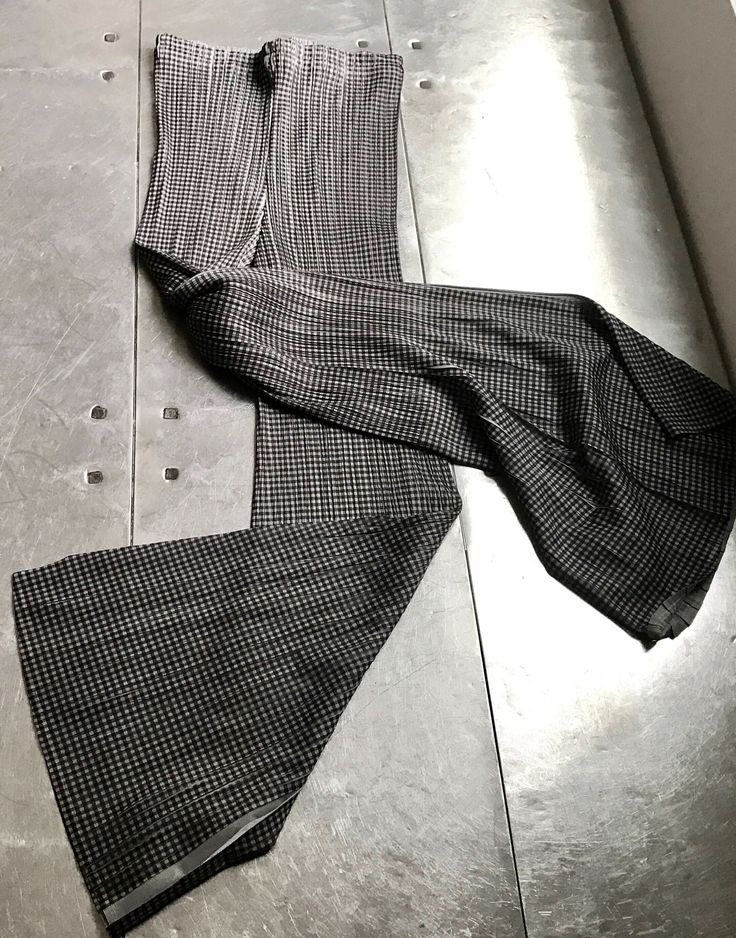 Excited to share the latest addition to my #etsy shop: Issey Miyake Pleats Please trousers, Vintage authentic Issey Miyake geometric pants,  pleated pepita pants, Issey miyake pants #clothing #women