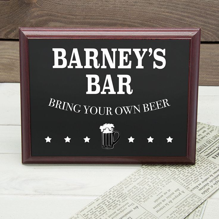 Personalised Welcome To My Bar Plaque by KiddiClub on Etsy