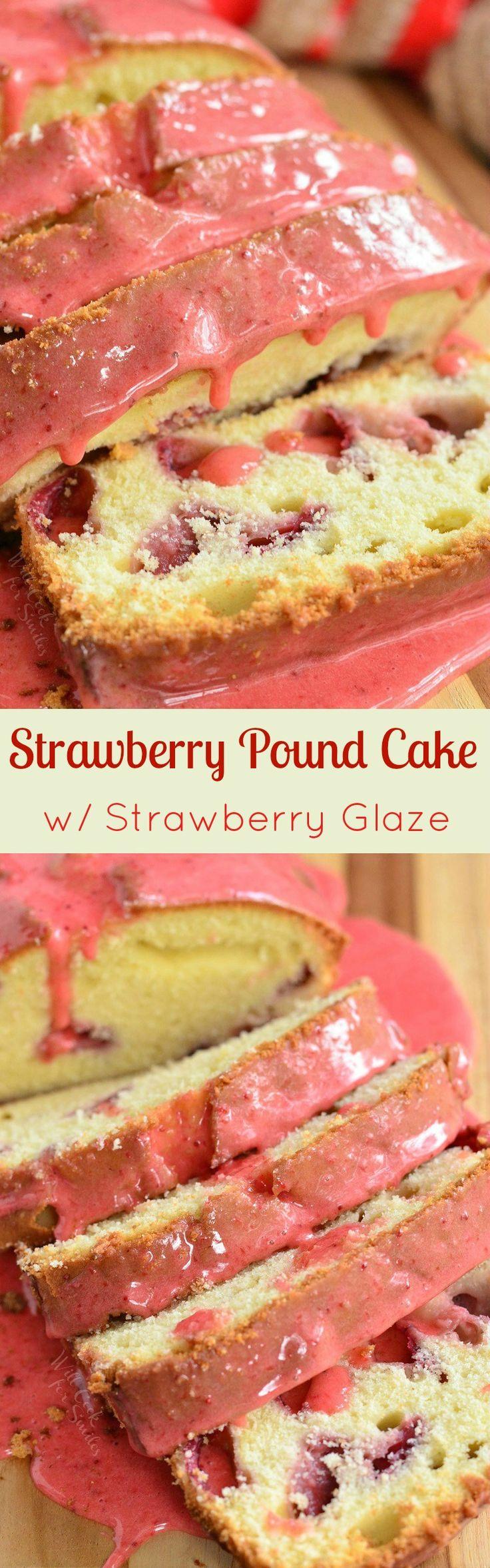 Glazed Strawberry Pound Cake. Soft, aromatic, and strawberry packed pound cake is a beautiful way to celebrate a sweet holiday.