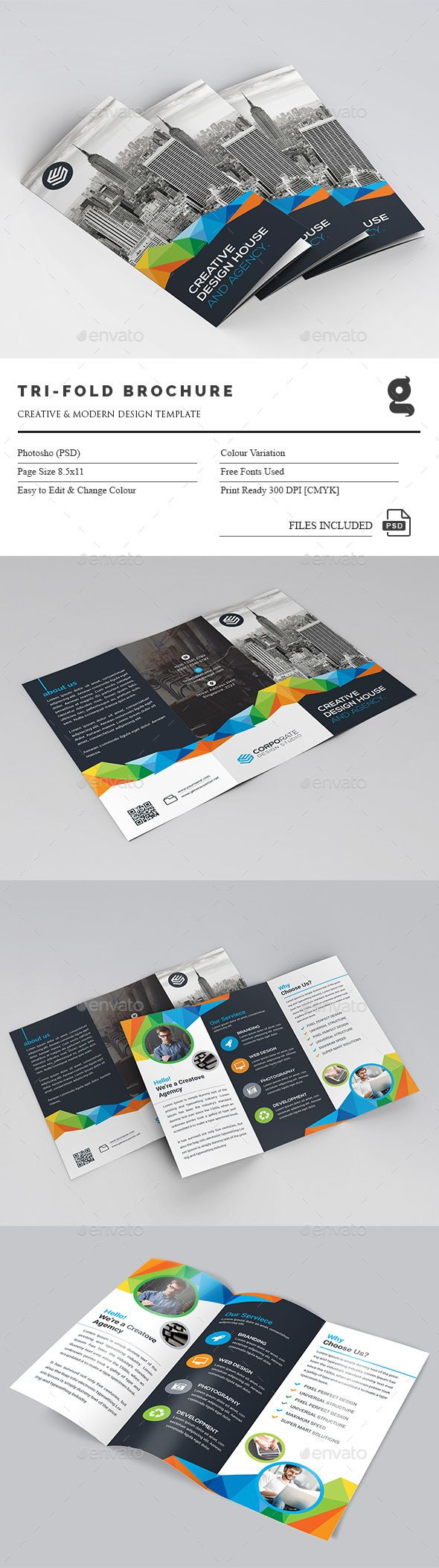 Tri-Fold Brochure Template PSD. Download here: http://graphicriver.net/item/trifold-brochure/15064313?ref=ksioks                                                                                                                                                     More