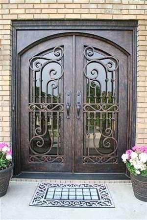 Beautiful wrought iron entryway.
