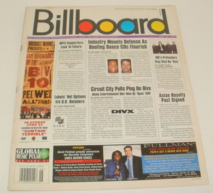 Billboard Magazine James Brown Michael Bivens March 8 1997 Back Issue #UnbrandedGeneric