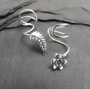 ear cuffs: Earrings Cuffs, Silver Ears, Leaf Ears, Cuffs Pairings, Sterling Silver, Ear Cuffs, Sterling Ears, Clothing Hairs Accessories, Ears Cuffs