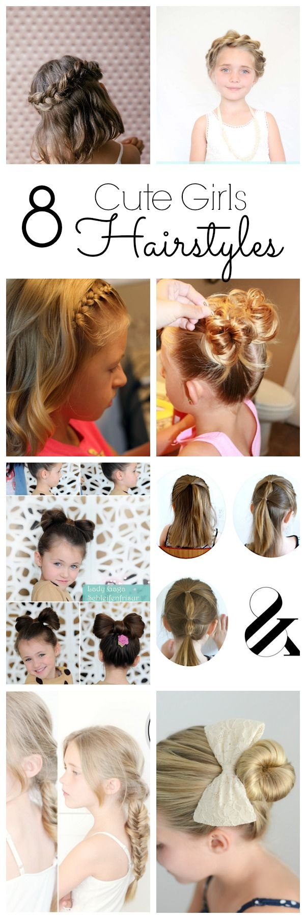 8 super cute girl's hairstyles - These are so cute!