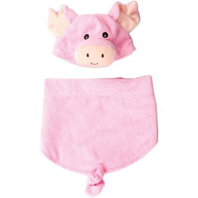 Ethical Fashion Pet Pig Costume with Elastic Bottom Curly Tail Comfy X-Large