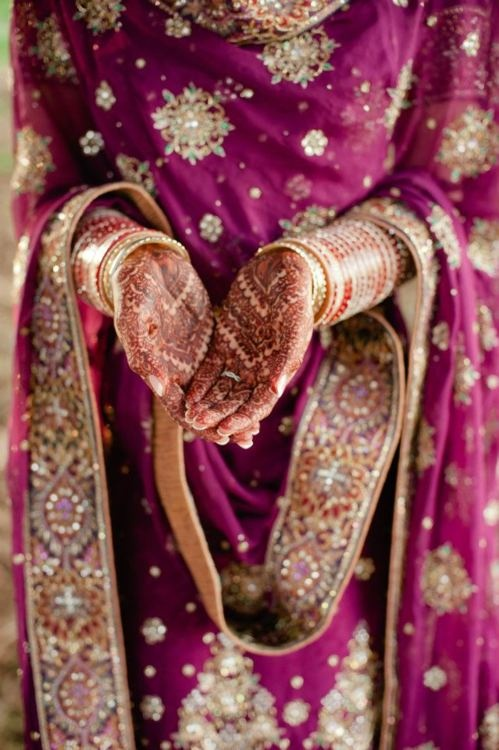#Desi Bride in Magenta