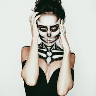 A skeleton: | 22 Simple Costumes For People Who Always Dress In Black