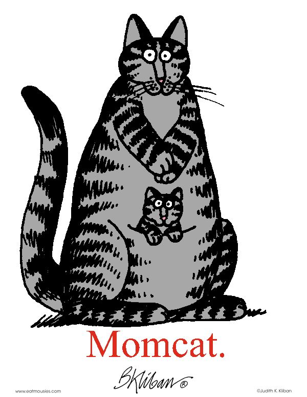 Mom cat...always loved Kliban