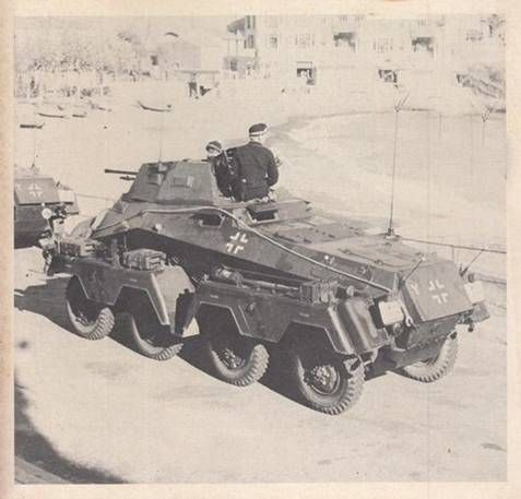 A SdKfz 232 8 rad armored car