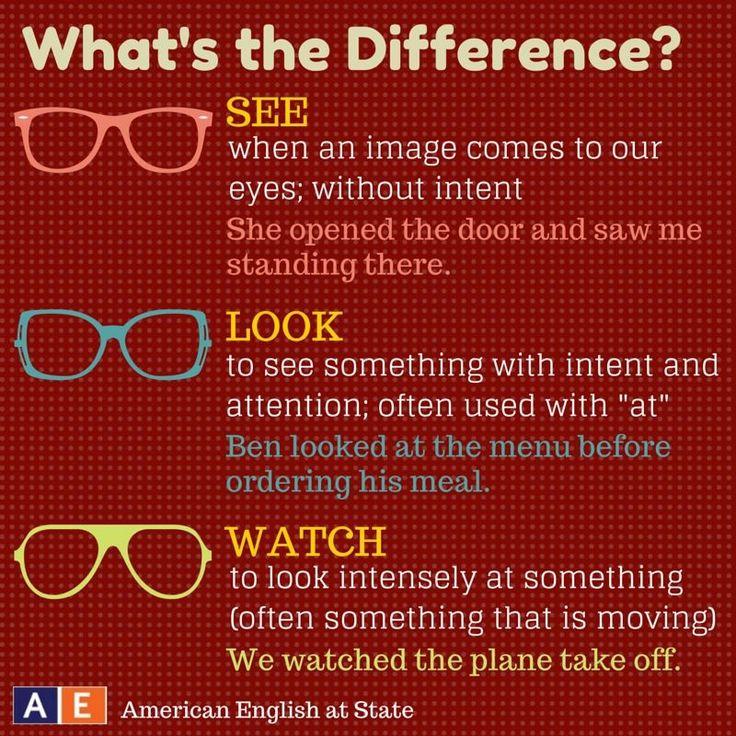 See vs Look vs Watch #english
