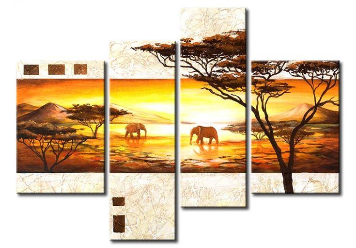 Cuadro decorativo África, con un toque de elegancia. ¡No sé como vosotros, pero nosotros estamos encantados! ❤ ❤ ❤ Vistas de África son tan románticas ❤ ❤ ❤