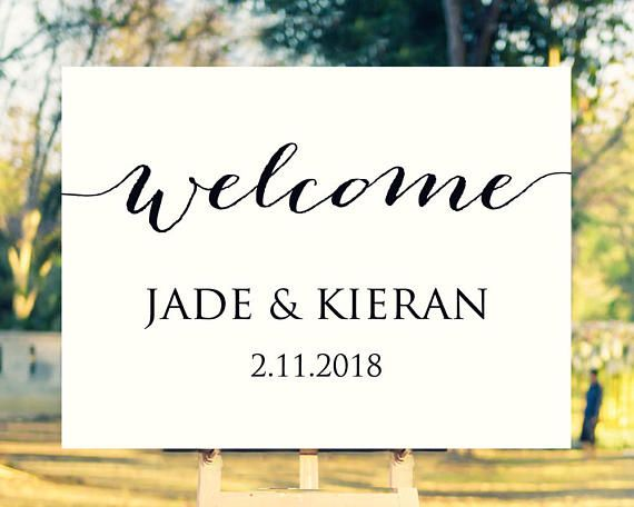 149 best Wedding Sign Templates images on Pinterest | Fonts ...