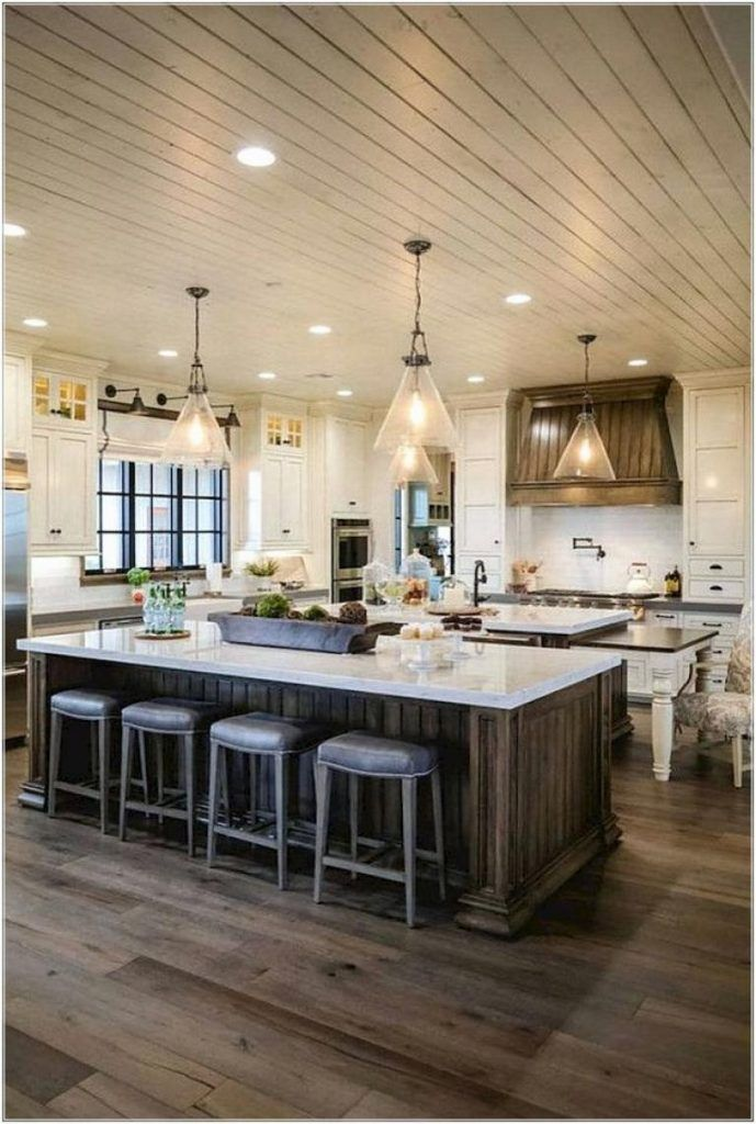 40 rustic modern farmhouse kitchen design ideas page 4 of 40 rh pinterest com