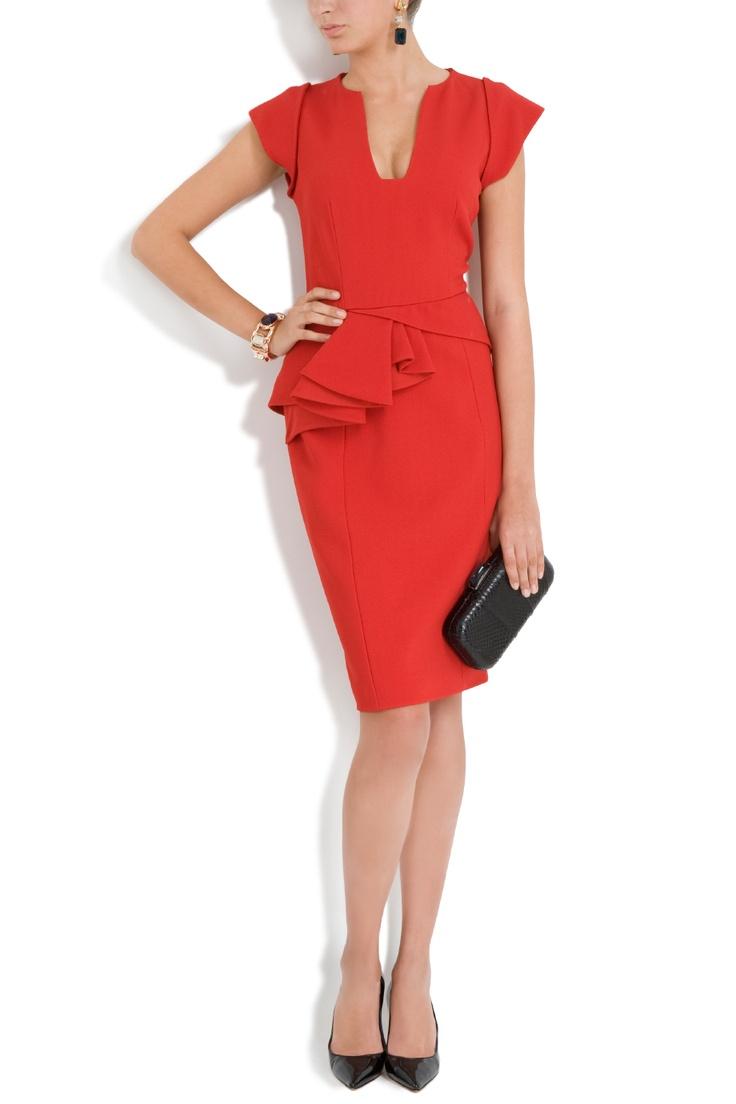 Ruffled Peplum Dress: Red Dresses, Red Ruffles, Rehearsal Dinners Dresses, Rehearsal Dinner Dresses, Peplum Red, Ruffled Peplum, Dresses Evening Fashion, Business, Peplum Dresses