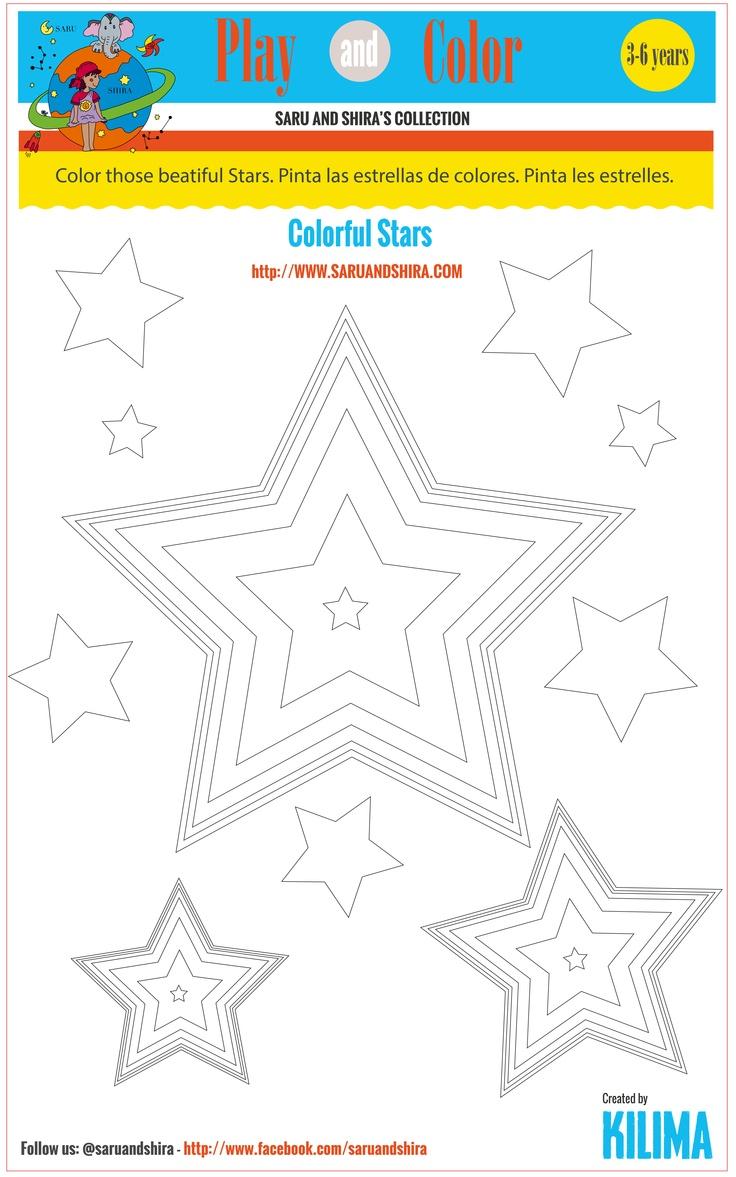 Look at those beautiful stars, paint them! Best. A pintar estrellas! A pintar estrelles! Bon cap de setmana!
