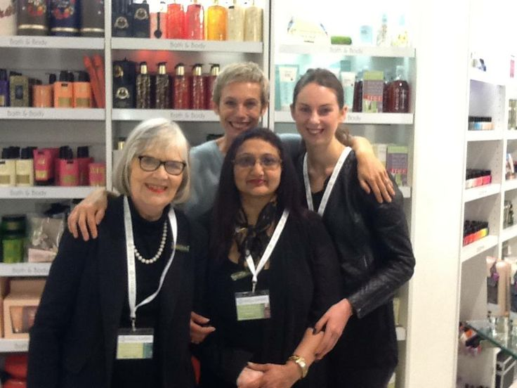 Kati at Kirkcaldie and Stains with our three new Evolu experts, Jean, Kitty and Emma #evoluskincare